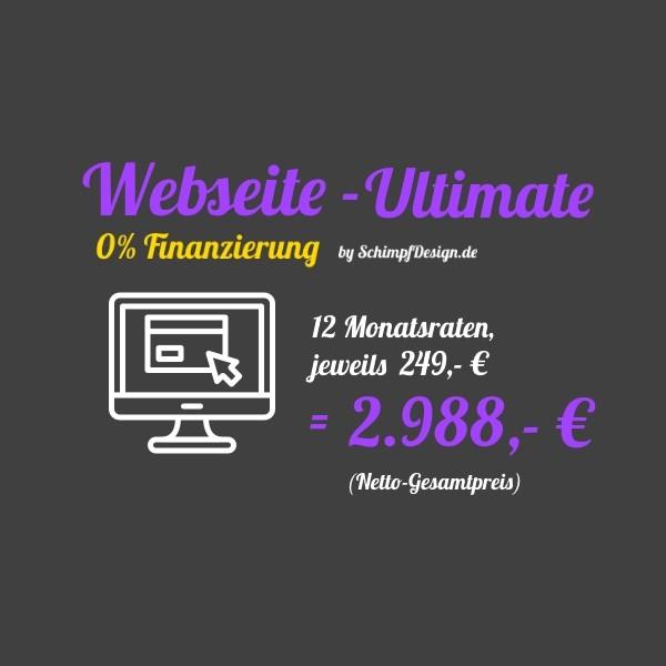 Webseite - Ultimate (0% Finanzierung à 12 Raten)