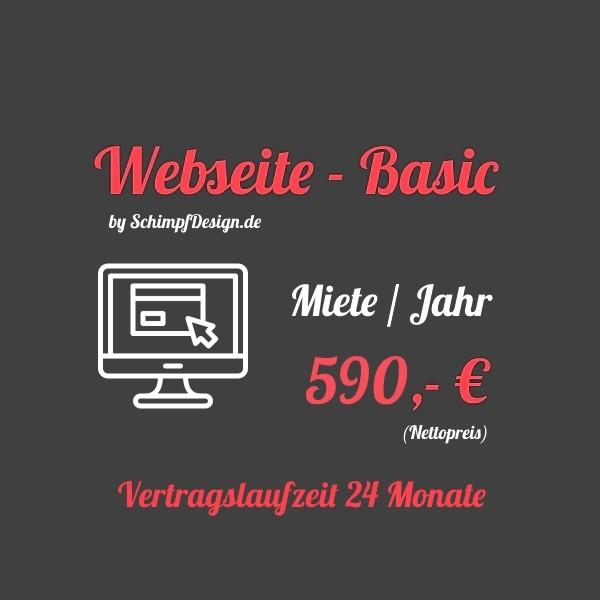 Webseite - Basic (Mieten / Jahr)