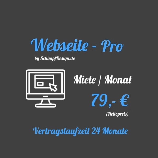 Webseite - Pro (Mieten / Monat)
